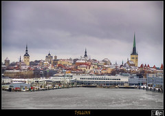 Tallinn seen from the sea (Fil.ippo) Tags: sea panorama landscape tallinn estonia raw mare hdr filippo eesti d5000 flickrdiamond pseduohdr