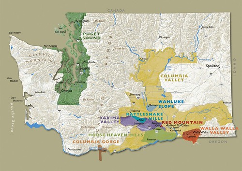 Washington Wine AVA Map
