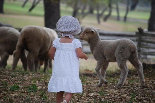 Beatrix and lamb.