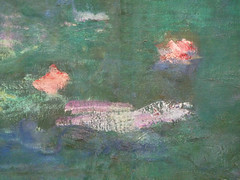 "Claude Monet, ""Les Nymphéas,"" Reflets verts (detail of flowers, close)"