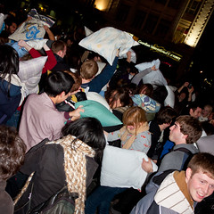 Pillow Fight Toronto 2011 (thelearningcurvedotca) Tags: street city portrait people urban playing toronto ontario canada motion color cute smiling sport night laughing square fun outside outdoors happy person photography photo crazy fight intense movement energy downtown foto play action outdoor vibrant crowd young battle canadian pillow event together photograph activity fighting playful pajamas pillowfight active physical nightwear iamcanadian yds yongedundassquare bsquare torontoist bej cans2s flickr10 wwwareamagazinecom discoveryphotos yourphototips briancarson blogtophoto tgamphotodeskcitylife torontopillowfight2011 thelearningcurvephotography wwwthelearningcurveca