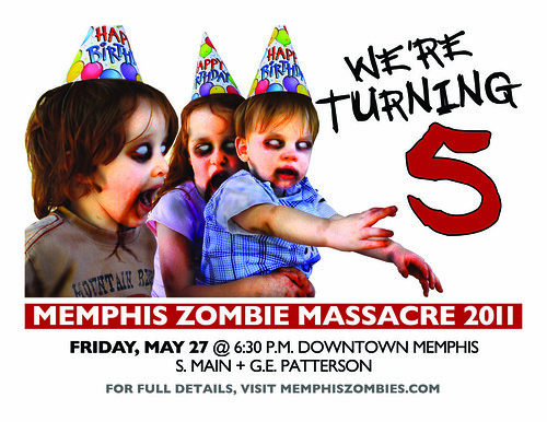 memphis zombie massacre 2011 flyer No. 1
