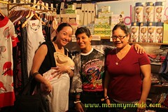 Denise Gonzales of Indigo Baby in her booth shared with Plume