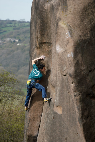 Michele Caminati , Gaia, E8 6C, Black Rocks, Derbyshire