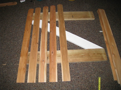 Attaching the planks to the frame
