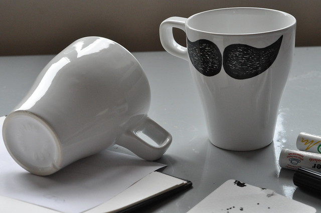 Moustache mug