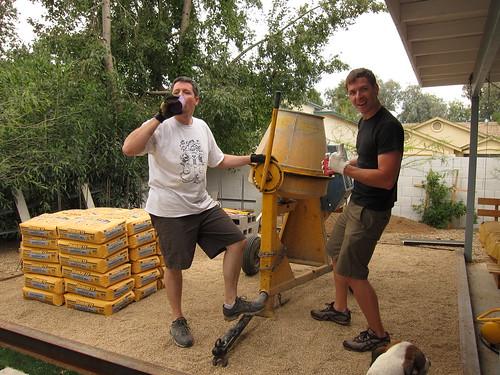Chris & Joe & a concrete mixer