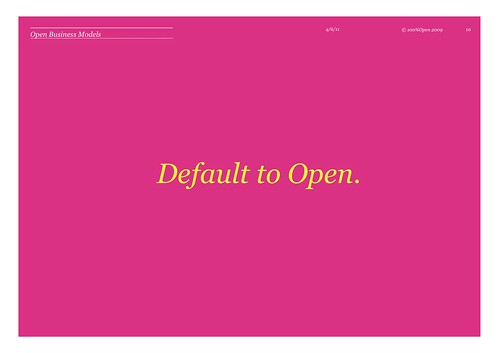 Default to Open