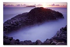 -O- ([ Kane ]) Tags: ocean sun seascape colour water landscape photography dawn rocks purple australia nsw rays kane hoya nd400 fingal gledhill fingalhead kanegledhill wwwkanegledhillcomau