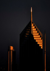 Two Prudential Plaza - Chicago Sunset (doug.siefken) Tags: plaza sunset 2 two chicago art john center hancock prudential pru siefken dougsiefken