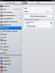 VPN-Konfiguration (BlackVPN auf dem iPad) 4/5