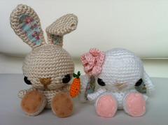 Spring Bunnies (all_about_ami) Tags: flower bunny spring crochet carrot amigurumi