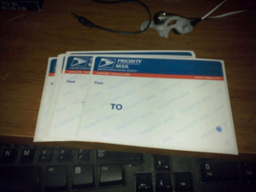 blue top usps stickers