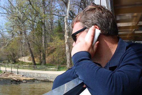 Matt on the Phone on the Potomac