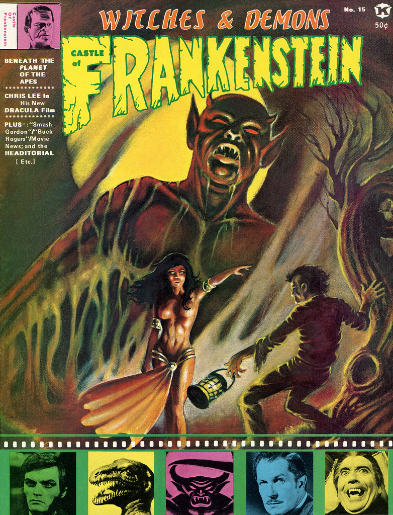 Castle Of Frankenstein, Issue 15 (1970) Cover Art by Frank Brunner