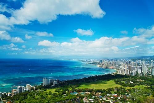 [フリー画像] 建築・建造物, 都市・街, 海, アメリカ合衆国, ハワイ州, 201104191900