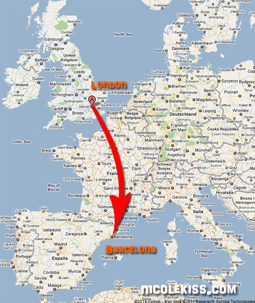 london to barcelona
