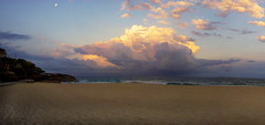 Storm Cloud (edwinemmerick) Tags: blue light panorama cloud moon storm 20d beach canon eos sand rocks afternoon purple pano sydney wave australia nsw edwin bronte emmerick edwinemmerick