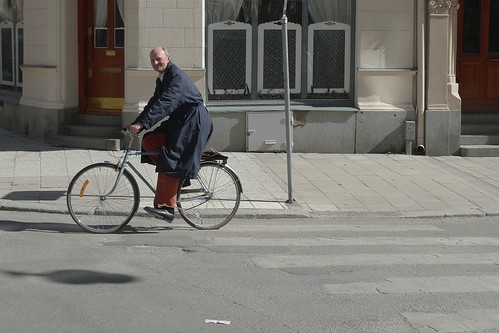 En glad cyklist