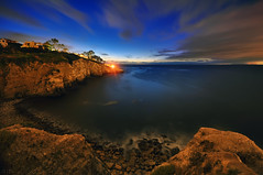 Seacoast Walk (Lee Sie) Tags: ocean california longexposure sky water night clouds point coast rocks waves pacific sandiego cove lajolla cliffs coastal shores