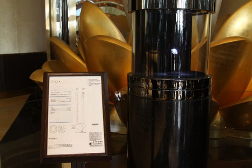 """The Star of Stanley Ho"" diamond on display at the Casino Grand Lisboa"