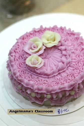 天使媽媽蛋糕皂教學 015
