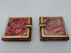 30s Pair of Pink Marble Ashtrays (Vrai Vintage) Tags: pink vintage design perfect designer antique pair style retro marble 20thcentury collectable midcenturymodern midcentury mcm ashtrays vrai 20thc vintage30s mid20thcenturydesign vraivintage