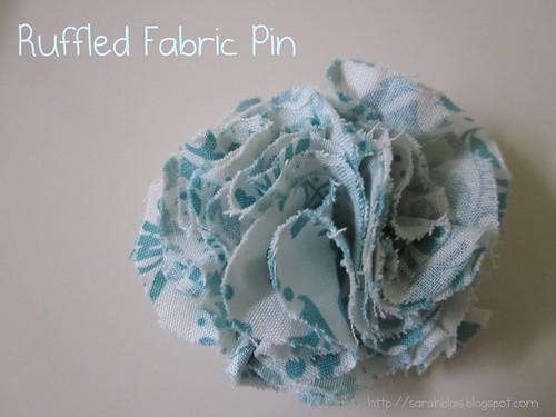 Ruffled Fabric Pin