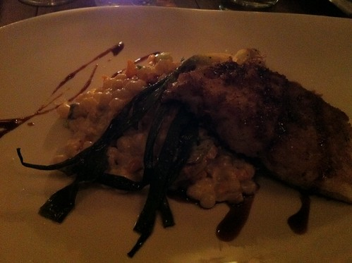Grand tambour fish with jerusalem couscous at L'affaire est ketchup