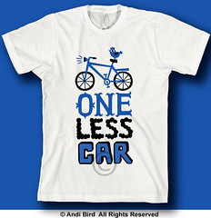 One Less Car t (birdarts) Tags: green bike bicycling bikes environmental bicycles transportation onelesscar mountainbiking vectors doodling handlettering sharetheroad clunker burningrubber fattires mountainbikes savetheplanet cheapgas printedtshirt handdrawntype begreen savegas tshirtgraphics handdrawnfonts biketshirt saveacar savegastshirt