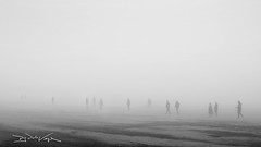 Pea Soup (D.J. De La Vega) Tags: leica people white black beach fog soup pea x1 sunderland seaburn