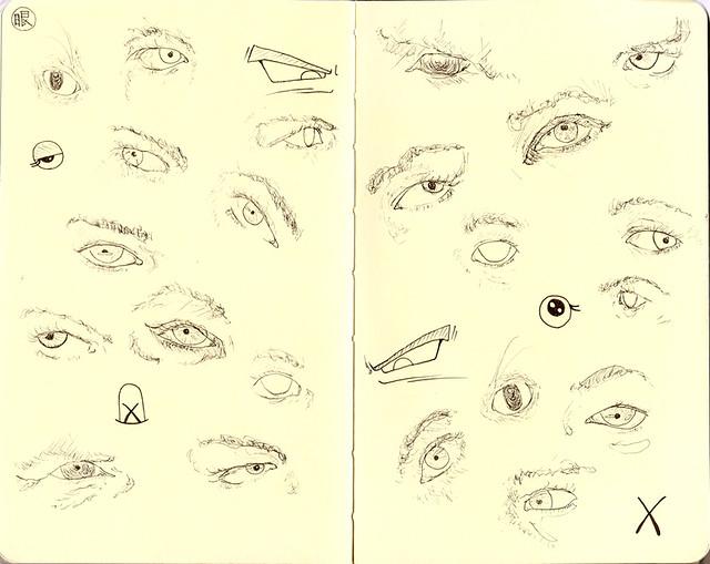 random portrait: eyes