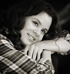 Abigail Harenberg Photographer Images #44 (Abigail Harenberg) Tags: portrait woman chicago girl beautiful face closeup shirt project photographer young posing images portraiture abigail plaid chicagoland harenberg ahp2011images