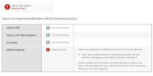 Xbox Live Security Alert