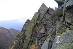 大キレットの岩場