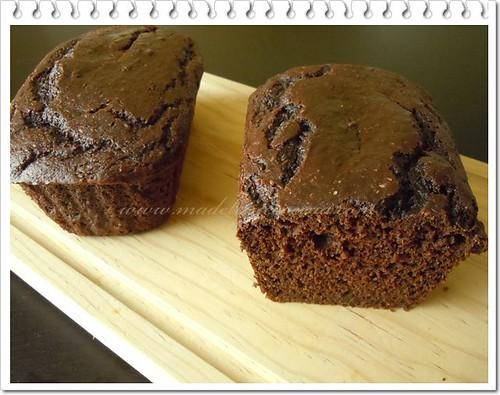 Panqué de chocolate y calabaza