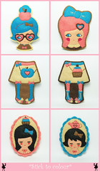Complementary frienship (hanaletters) Tags: cute dolls kawaii ribbon heartpin applebag feltpin applepin cupcakebag kawaiigirls ribbontattoo hanaletters