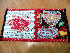 marjon's mug rug1 (lynnejean1) Tags: hearts embroidery quilting applique crazyquilting mugrug