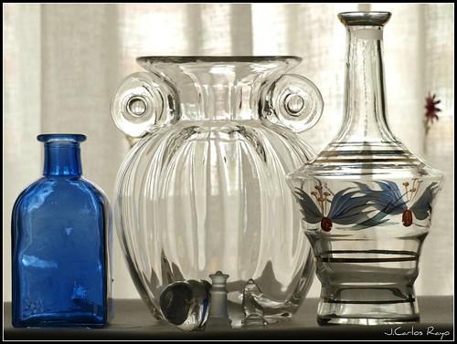 Vidrio y cristal.