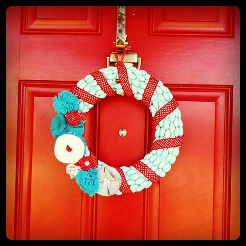 I spruced up my acorn wreath