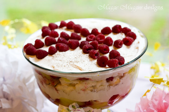 Delicious Raspberry Lemon Trifle