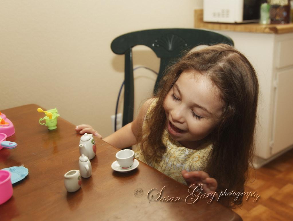 Toddler Girl Expressing Easter Toy Joy