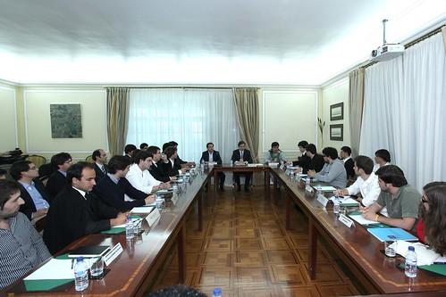 Pedro Passos Coelh com dirigentes das Associações Académicas do Ensino