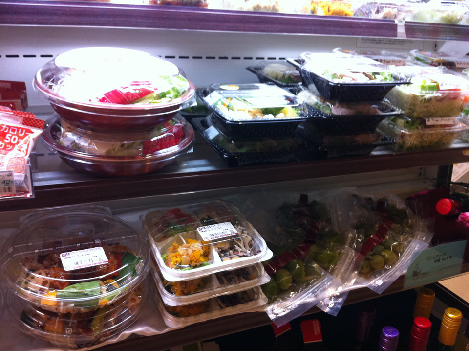 a selection of salads