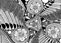 Mental Lock (gl/gc?int=25) Tags: white abstract black art texture net pen flow grey high experimental waves graphic lock monochromatic textures thoughts ornament hallucination draw trippy psychedelic a4 cells core trance psy hypnosis mental
