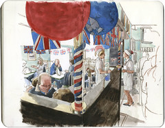 Anstruthers fish bar (Wil Freeborn) Tags: wedding fish moleskine bar journal royal sketchbook anstruthers