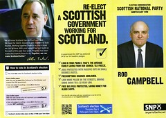 SNP Scottish Election Leaflet, 2011 (Scottish Political Archive) Tags: party scotland election fife scottish national leader publicity campbell campaign snp 2011 salmond