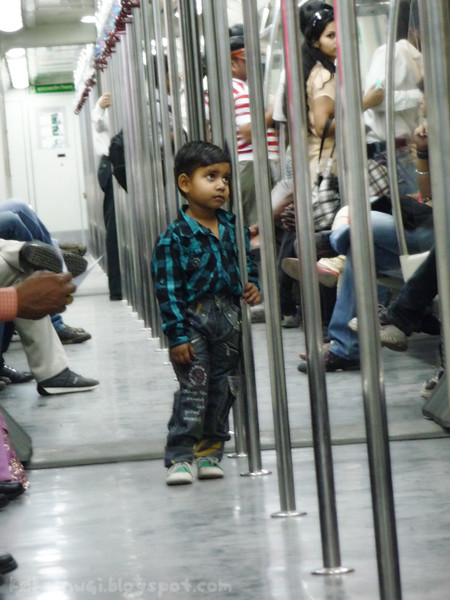 Boy on the Delhi Metro