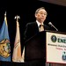 U.S. Secretary of Energy Dr. Steve Chu addressing Tribal Leaders. DOE Tribal Energy Summit. May 5, 2011. Crystal Gateway Marriott, Arlington, VA. Photo by Jared King / NNWO  This Navajo Nation Washington Office photograph is being made available only for publication by news organizations and/or for personal use printing by the subject(s) of the photograph. The photograph may not be manipulated in any way and may not be used in commercial or political materials, advertisements, emails, products, promotions that in any way suggests approval or endorsement of Navajo Nation President Ben Shelly.
