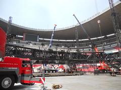 Cuarto día de montaje - Estadio Azteca 29
